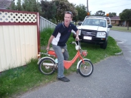 Dave and the postie bike
